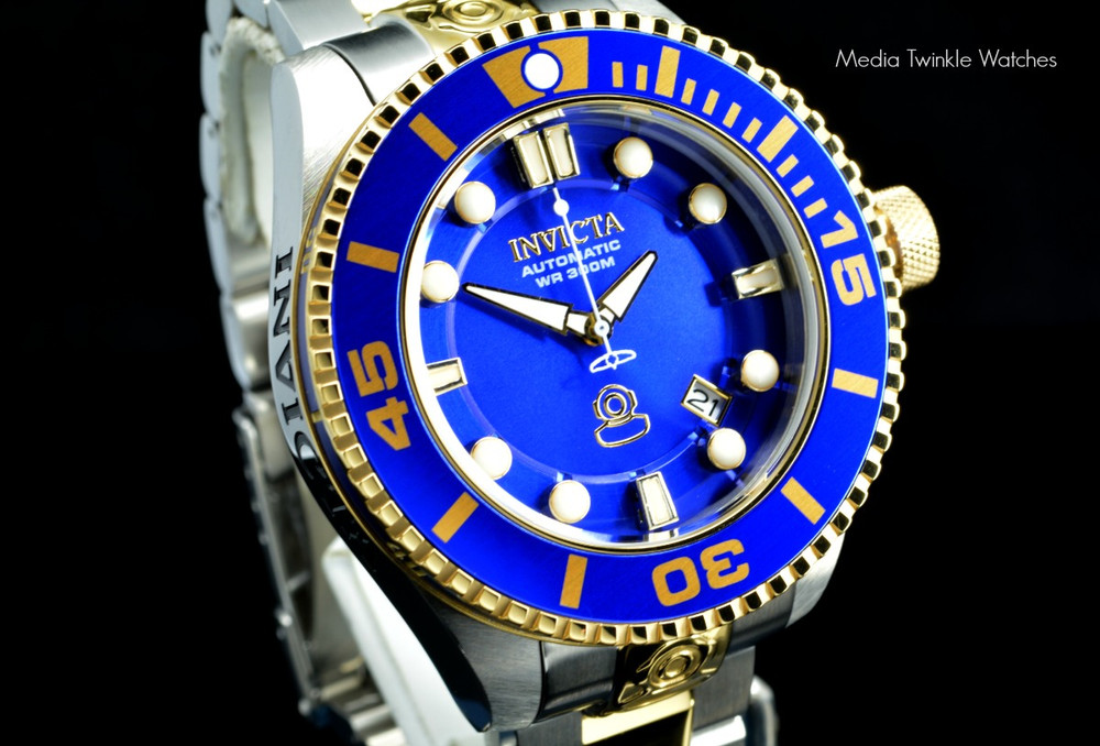 Invicta 19804 Grand Diver 2 Gen II 47mm Automatic Two-Tone Blue Dial Stainless Steel Bracelet Watch | Free Shipping