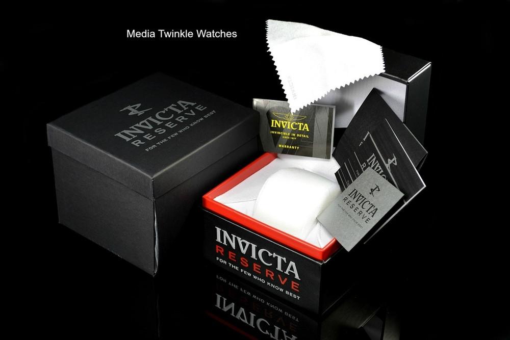 Invicta 52mm Reserve Bolt Zeus MAGNUM Swiss Quartz Gold Tone Dual Movement Bracelet Watch 25210