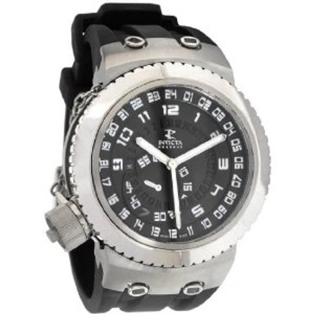 Invicta 0234 Mens Reserve Russian Diver Swiss Made Quartz GMT Watch | Free Shipping
