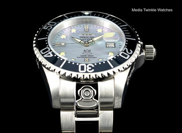 Invicta 47mm Grand Diver Automatic Diamond Accented Two-Tone Platinum M.O.P Dial  Bracelet watch