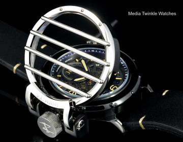 Invicta 20257 Reserve 52mm Vintage Cross Bar Quartz Multi Function Leather Strap Watch