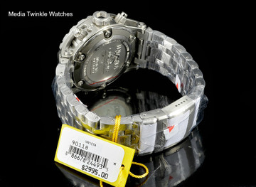 Invicta 90118 Reserve 52mm Specialty Subaqua Silver Dial Gray Bezel All Silver Bracelet Watch