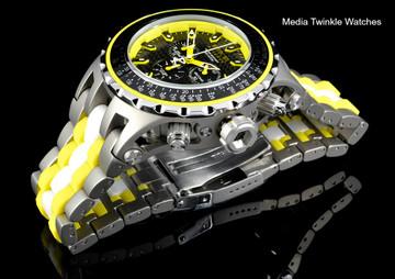 Invicta 52mm 12778 Reserve Specialty Subaqua Yellow Dial Titanium Case Bracelet Watch