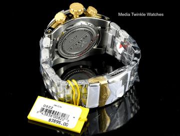 Invicta 0822 Reserve Bolt Zeus Swiss Quartz Chronograph Gold Tone Dial Bracelet Watch | Free Shipping
