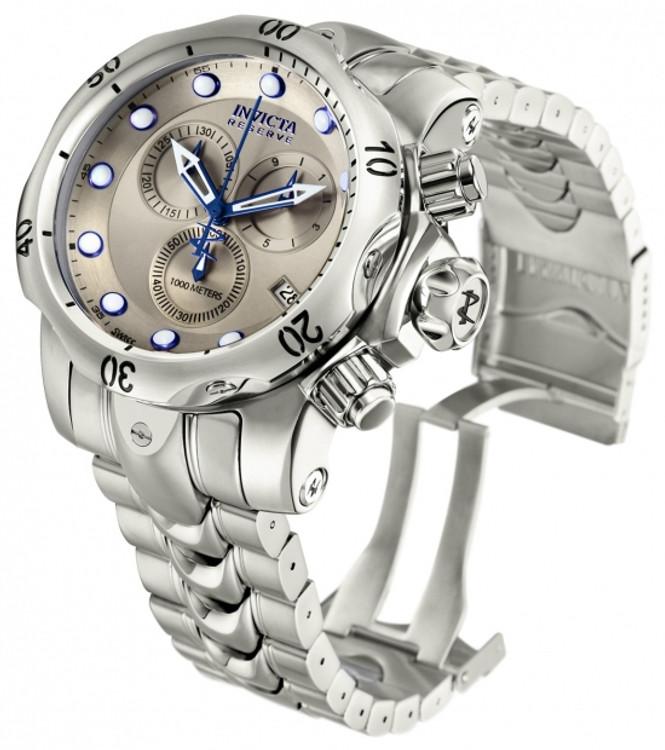 Invicta 11787 Reserve Men's Venom Swiss Made Quartz Chronograph Stainless Steel Bracelet Watch   Free Shipping
