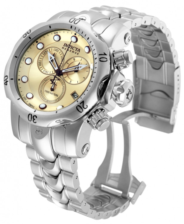 Invicta 11785 Reserve Men's Venom Swiss Made Quartz Chronograph Stainless Steel Bracelet Watch   Free Shipping