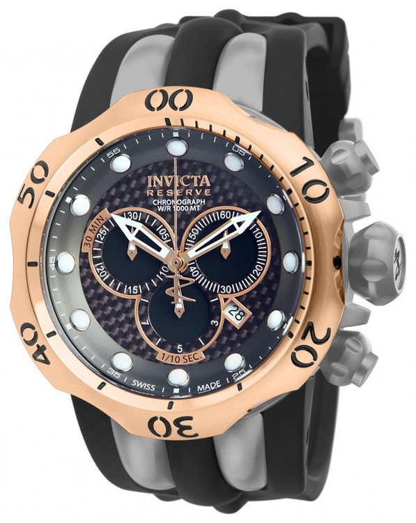 Invicta 14518 Reserve Men's Venom Swiss Quartz Chronograph Titanium Case Polyrethane Strap Watch | Free Shipping