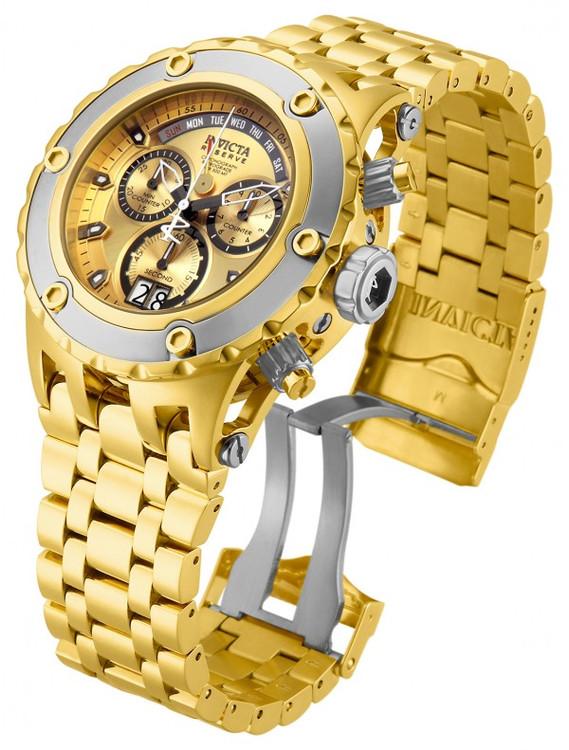 Invicta 80489 Reserve Men's Specialty Subaqua Gold Dial Silver Bezel Swiss Quartz Chronograph Bracelet Watch | Free Shipping