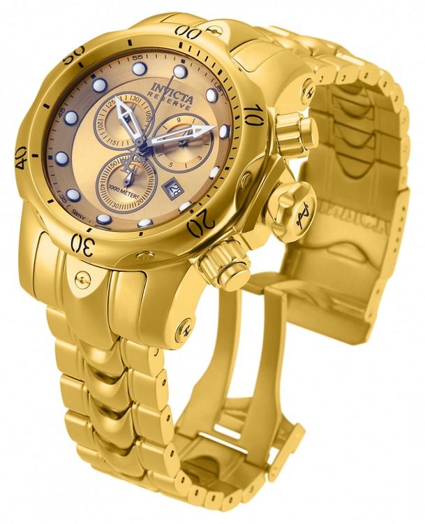 Invicta 13903 Reserve Venom High Polished MID SIZE Gold Tone Bracelet Watch | Free Shipping