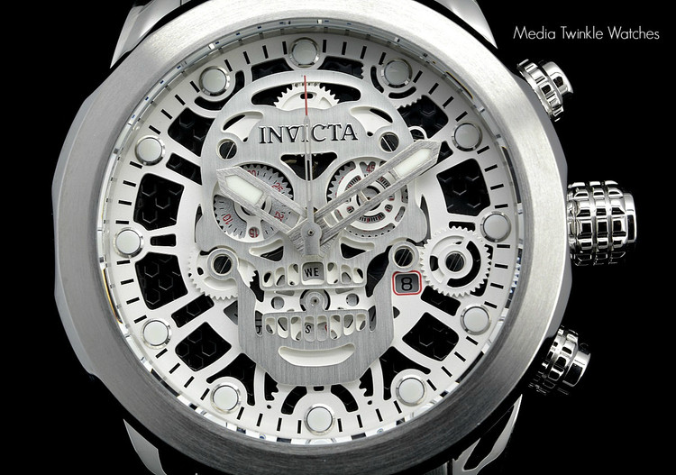 "Invicta 18863 ""Skull"" 50mm Corduba Collection Quartz Chronograph Bracelet Watch 