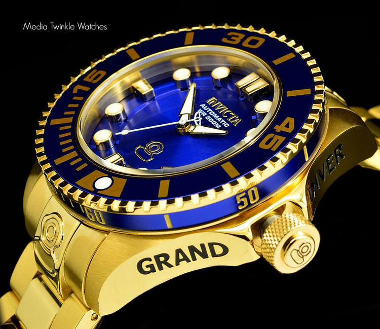 Invicta 19806 Grand Diver 2 Gen II 47mm Automatic Blue Bezel Stainless Steel Bracelet Watch | Free Shipping