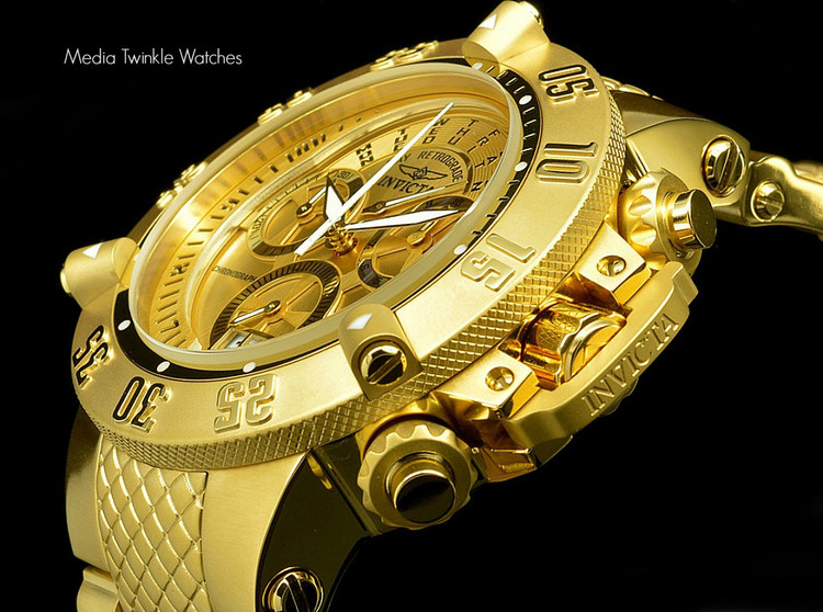 Invicta 17615 Men's Subaqua Noma III Swiss Quartz Chronograph Gold Tone Dial Watch   Free Shipping
