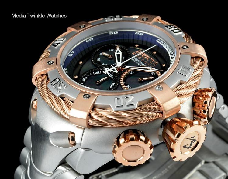 Invicta 21356 Reserve 56mm Thunderbolt Swiss Made Quartz Chronograph Rose Gold Tone & Silver Bracelet Watch