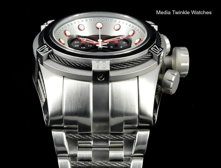 Invicta 22158 Reserve Bolt Zeus Swiss Quartz Chronograph Black Dial Black Bezel Bracelet Watch | Free Shipping