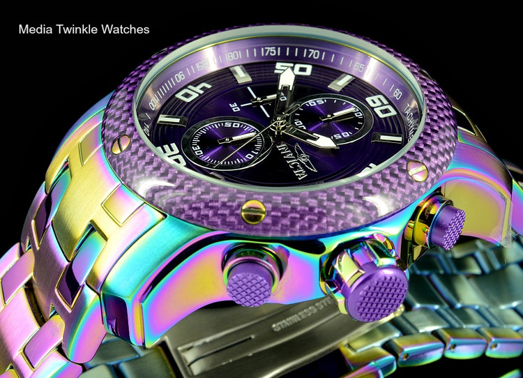 Invicta 24160 ProDiver 48mm Purple Dial Iridescent Finish Bracelet Watch