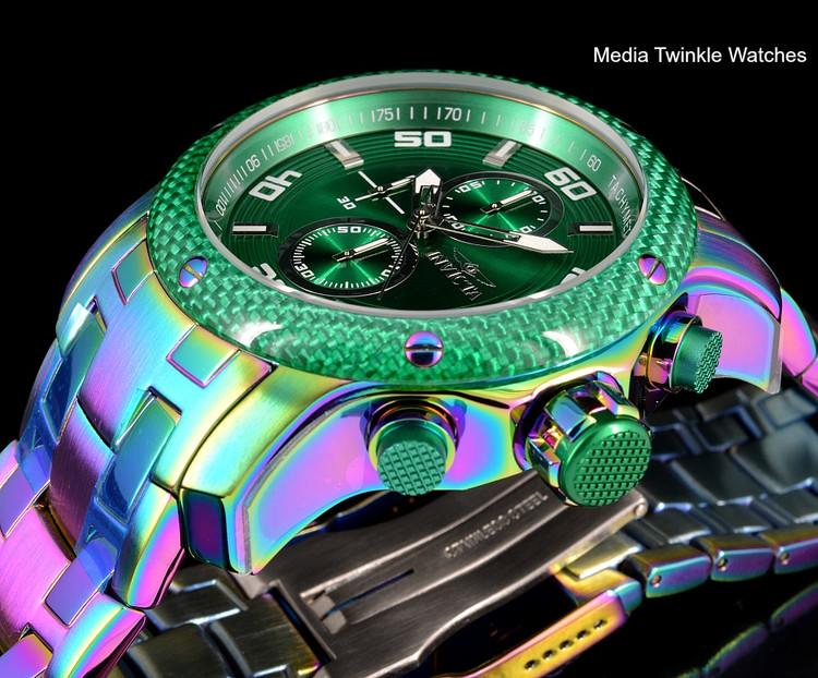 Invicta 24159 ProDiver 48mm Green Dial Iridescent Finish Bracelet Watch