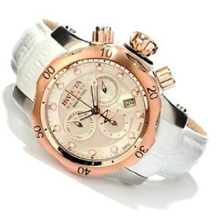 Invicta Reserve Women's Venom Swiss Made Mother-of-Pearl Dial Chronograph Watch
