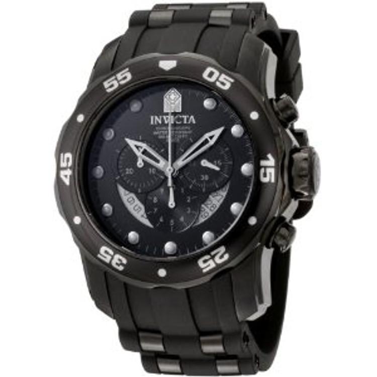 Invicta 6986 Men's Pro Diver Collection Chronograph Black Dial Black Polyurethane Watch | Free Shipping
