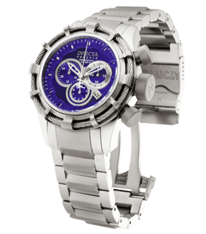 Invicta 1445 Reserve Bolt Swiss Made Chronograph Stainless Steel Bracelet Watch | Free Shipping