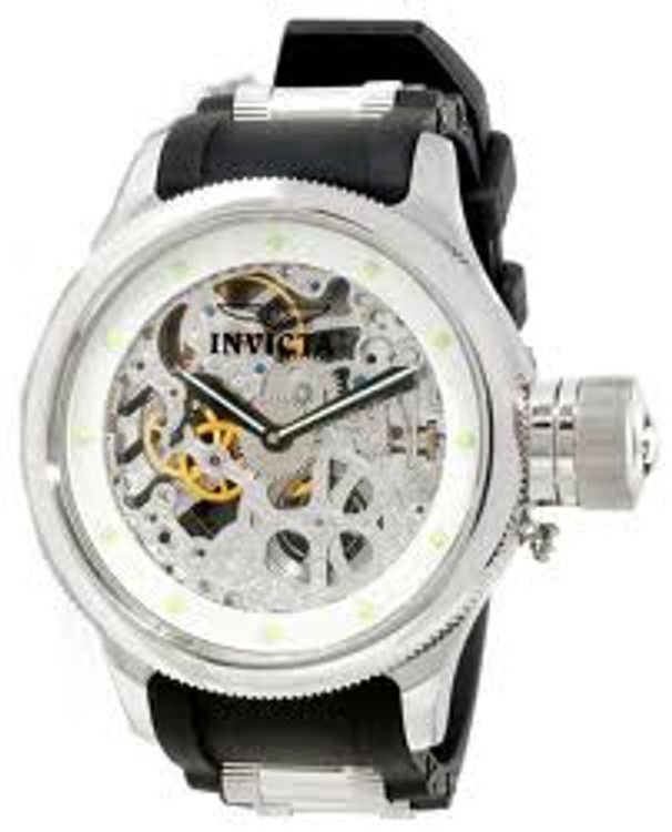 Invicta 1242 Mens Russian Diver Skeletonized Mechanical Watch | Free Shipping