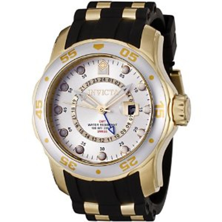 Invicta 6995 Pro Diver Scuba Swiss Quartz GMT Polyurethane Strap Watch | Free Shipping