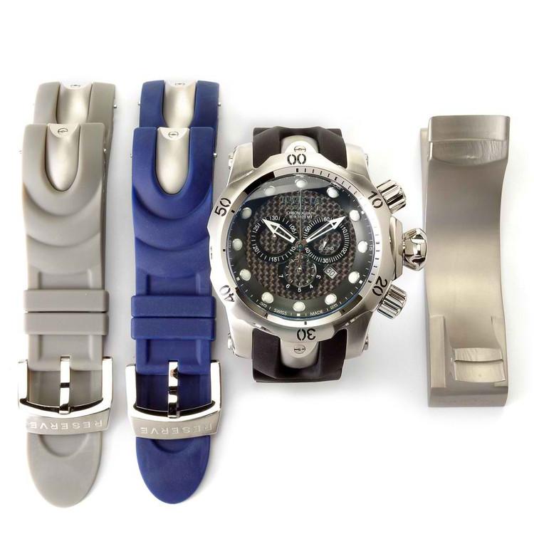 Invicta 10945 Reserve Men's Venom Ocean Quest II Quartz Interchangeable Strap Watch w/ 3-Slot Dive Case | Free Shipping