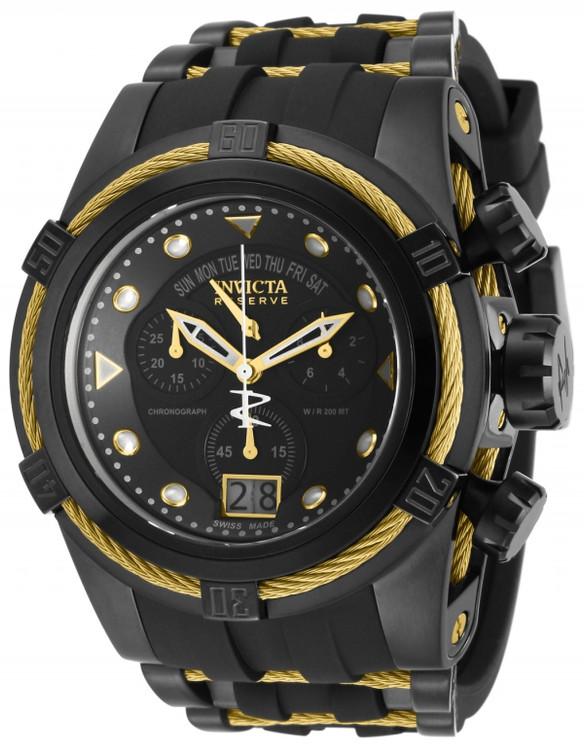 Invicta 12299 Reserve Men's Bolt Zeus Swiss Quartz Chronograph Strap Watch   Free Shipping