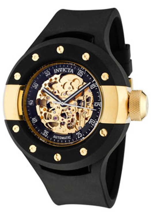 Invicta 0868 Mens S1 Rally Self Winding Automatic Black Polyurethane Strap Watch | Free Shipping