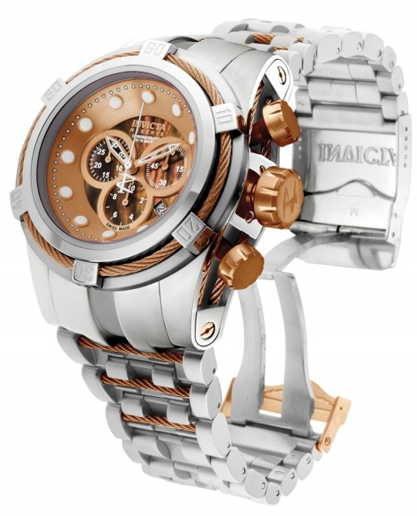 Invicta 0823 Reserve Bolt Zeus Swiss Made Quartz Chronograph Mother-of-Pearl Dial Bracelet Watch (Zeus)   Free Shipping