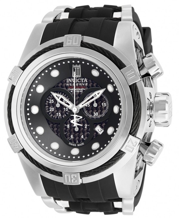 Invicta 12954 Jason Taylor Reserve Zeus Bolt Limited Edition Black Dial Black Polyurethane Strap Watch | Free Shipping
