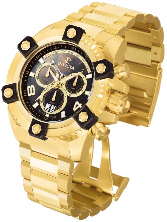 Invicta 0340 Reserve FULL SIZE Men's Arsenal Swiss Quartz Big Date Stainless Steel Bracelet Watch | Free Shipping