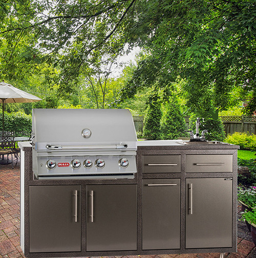 """32S-P7 Outdoor Kitchen w/sink & 32"""" Grill Cutout  (Grill Sold Separately)"""
