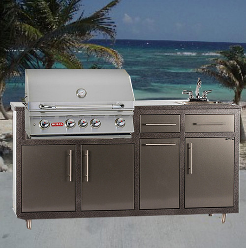 """32S-S2 Outdoor Kitchen w/sink & 32"""" Grill Cutout  (Grill Sold Separately)"""