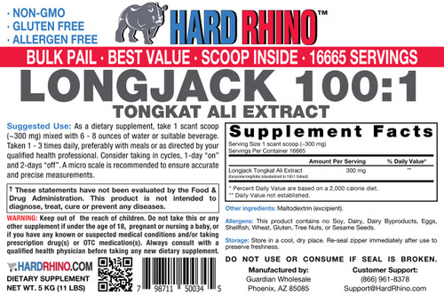 BULK LongJack Tongkat Ali Eurycoma longifolia 100:1 Powder