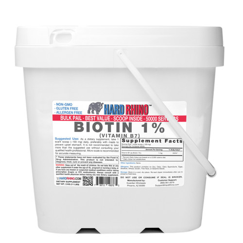 BULK Biotin 1% Vitamin B7 Powder