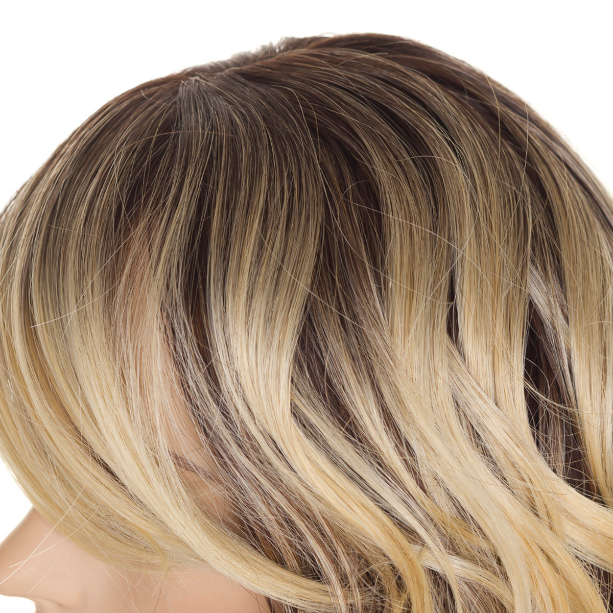 jen tri tone ombre wig long wavy human hair blend wig