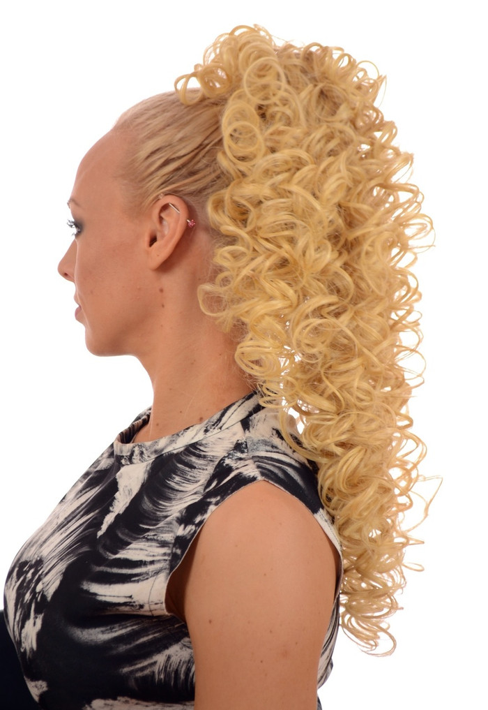 Candy Blonde Irish Dance Style Spiral Curly Ponytail