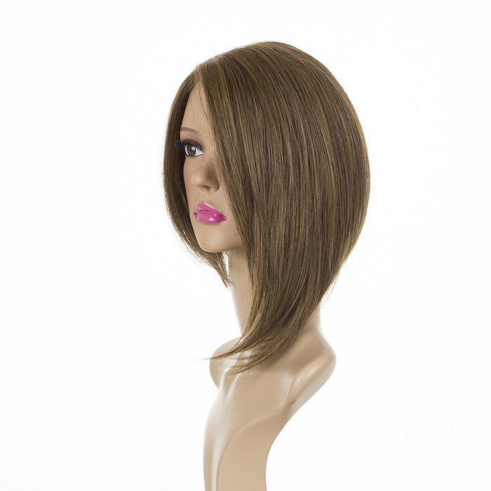 Victoria Bob Wig Dark Shaded Blonde Lace Front Human Hair Blend