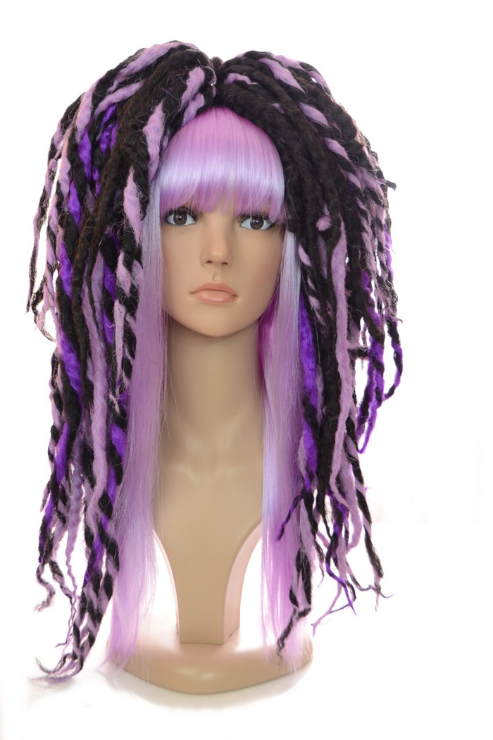 Black & Purple Lottie Dreadlock Wig