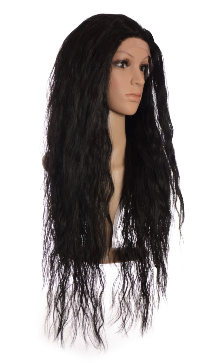 Avril Expresso Black Crimped Long Wig