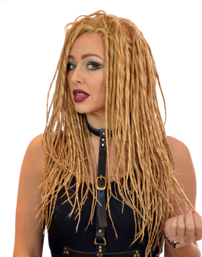 Blonde Kira Dreadlock Lace Frontal Wig