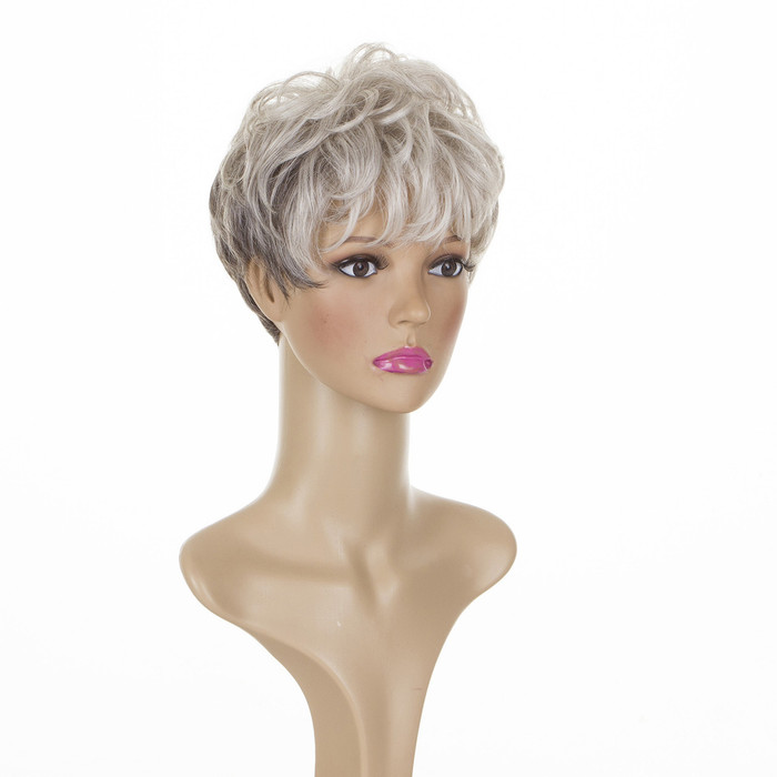 Joy Silver Shadow Short Cropped Mature Style Wig