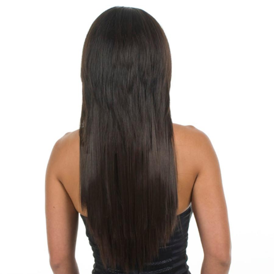 Excelength Hair Extensions Dark Java Rear