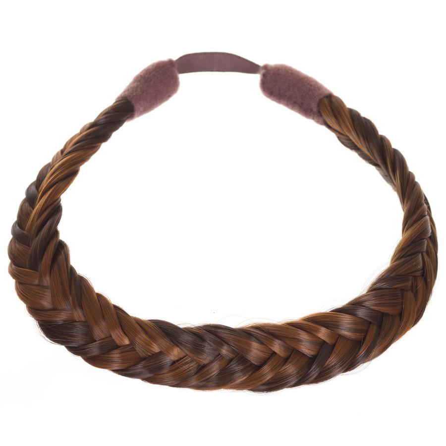 Cocoa Mocha. Dark Brown / Copper  Hair Braid Band