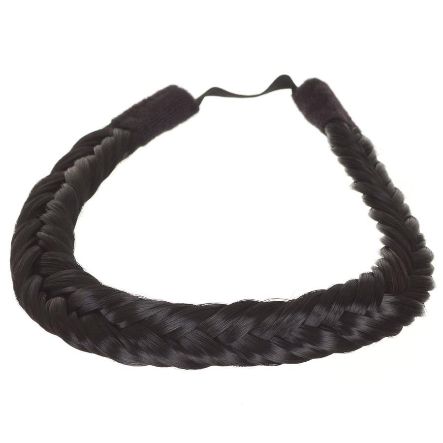 Inca Jet Black  Hair Braid Band