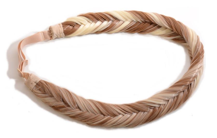 Vanilla Lush. Light / Dark Blonde Hair Braid Band