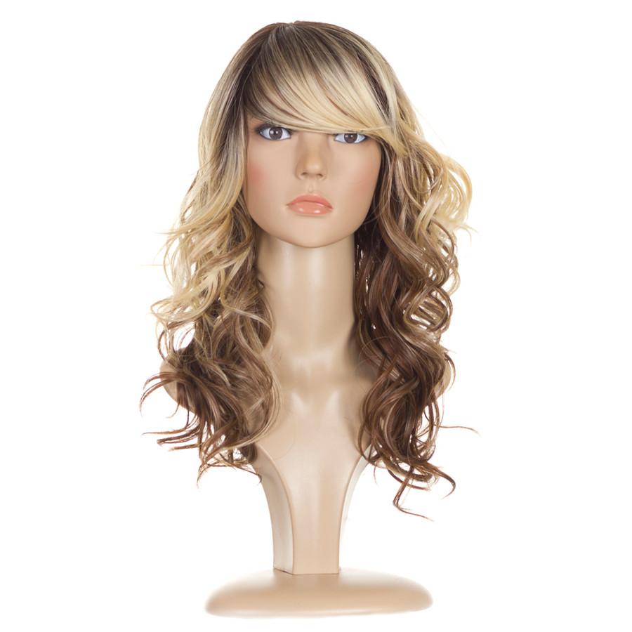 Jen wig. Tri Tone Blonde Human Hair Blend Wig