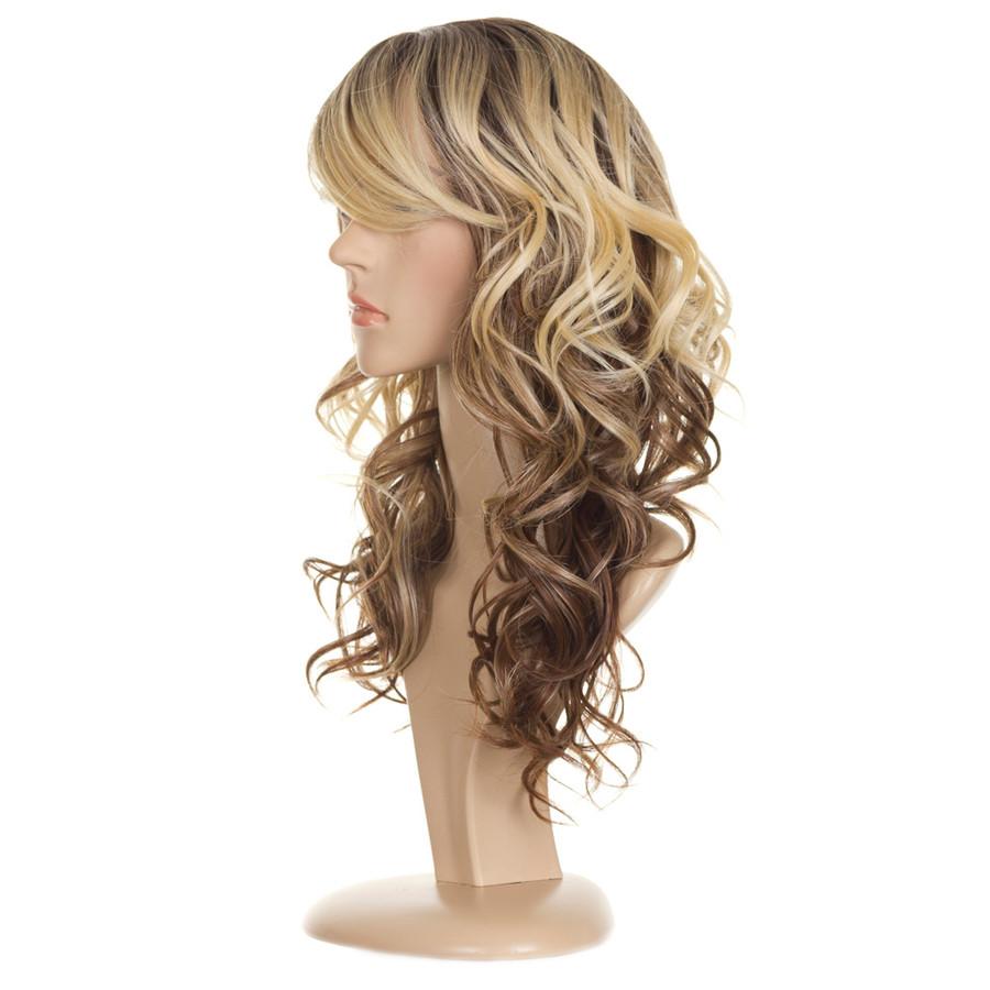 Jen Ombre Tri Tone Human Hair Blend Wig