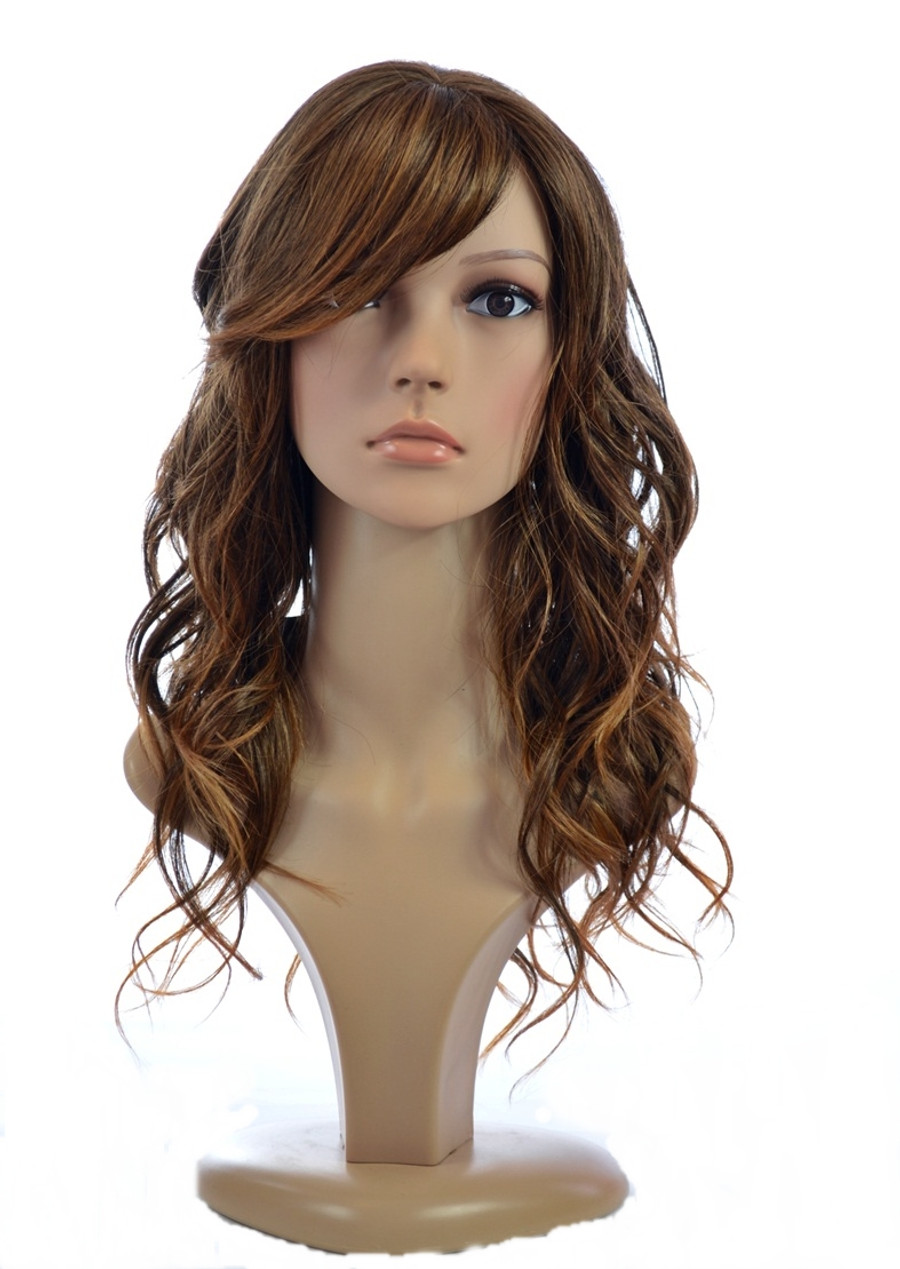 Jen Wig Hawaiian Brown Long Curly Glamour Human Hair