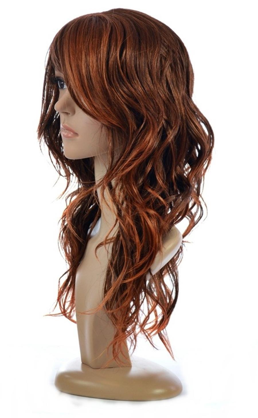 Jen Burnt Amber Human Hair Blend Wig